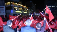 Gümüşhane'de 'Başkan Erdoğan' sloganlarıyla kutlama yapıldı
