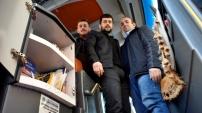Türkiye'nin ilk kütüphaneli yolcu otobüsü Gümüşhane'den