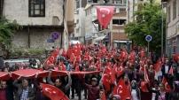 Torul'da teröre karşı birlik yürüyüşü gerçekleştirildi