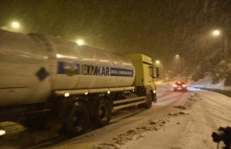 Zigana dağında kar yağışı etkili oluyor