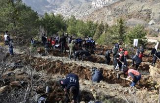 Gümüşhane'de 'Milli Ağaçlandırma Gününde' 70 bin fidan toprakla buluştu