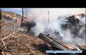 Ardıç köyünde yangın