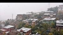 Gümüşhane'ye yılın ilk karı yağdı