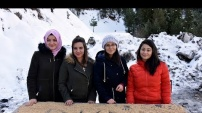 Gümüşhane'de yoğun kış şartlarında yaban hayatı unutulmuyor