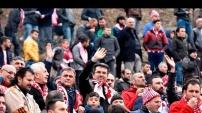 Gümüşhanespor taraftarları Hatayspor maçında dağları tribün yaptı