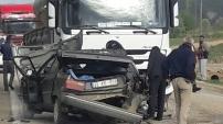 Şiran'da kahreden kaza: 1 ölü, 1 yaralı