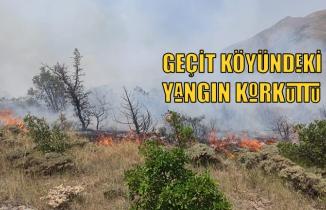 Geçit köyündeki yangın korkuttu