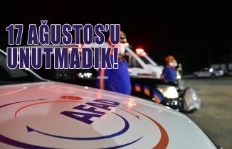 Gümüşhane'de İstanbul depreminin yıldönümünde deprem tatbikatı