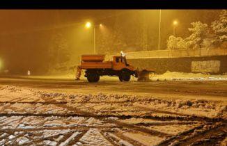 Zigana'da yılın ilk kar yağışı başladı